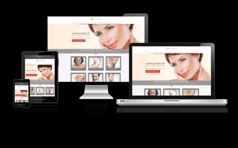 Plastic Surgery Web Design - Responsive Dental Website Example