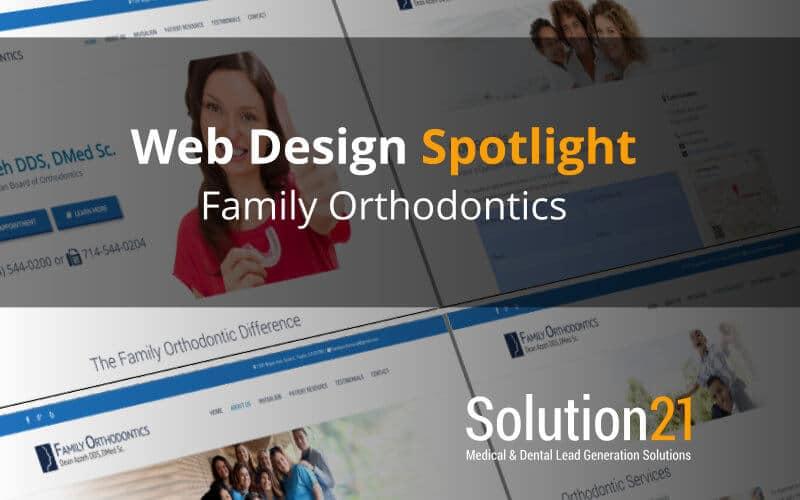 Web Design Spotlight: Family Orthodontics