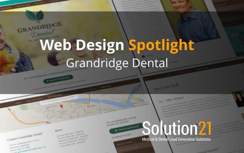 Web Design Spotlight: Grandridge Dental