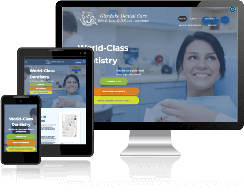 Glenlake Dental Care | Dental Site Design