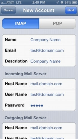 iPhone Mail Setup