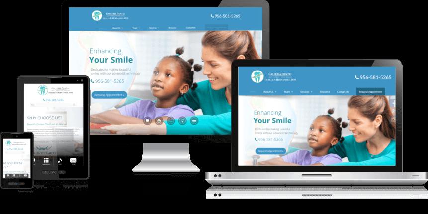 Responsive Dental Web Design for Galleria Dental in Mission, TX