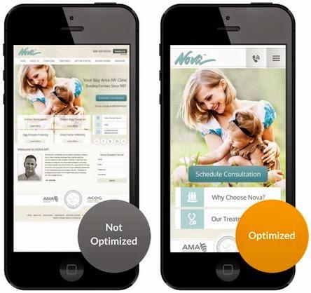 Solution21 dental and medical practice mobile website