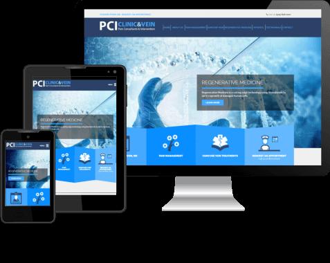 PCI CLINIC  Medical Site Design