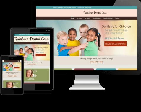 Rainbow Dental Care | Dental Site Design