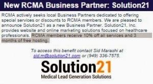 RCMA - Solution21 Endorsement